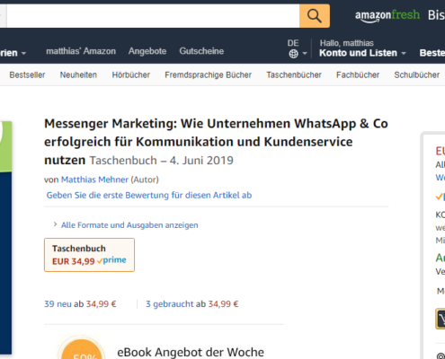 Messenger Marketing Buch WhatsApp _Amazon Buch