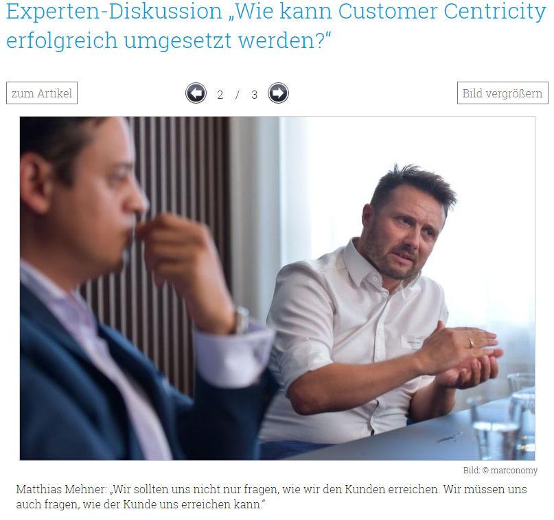 Diskussion Customer Centricity Experten