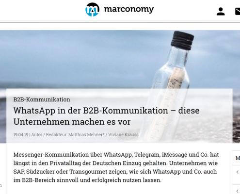 B2B WhatsApp Marconomy