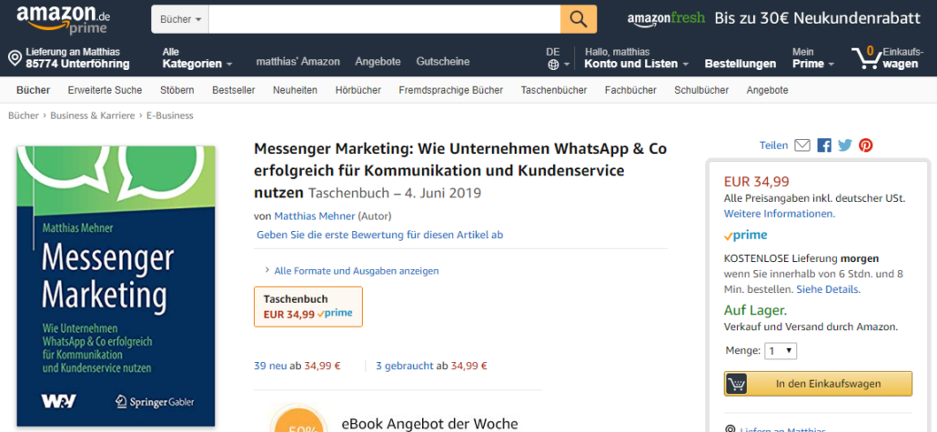 amazon neukundenrabatt
