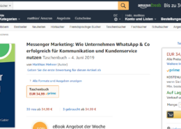 Messenger Marketing Buch WhatsApp _Amazon Buch