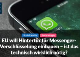 Messenger-Verschlüsselung